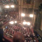 From my seat. Upper circle