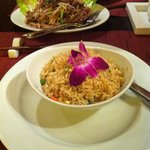 Fried rice and fried duck