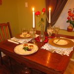 Dining Table set for In-Room Dinner