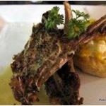 Lamb chops & potato tart