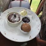 Hot soft centred chocolate pudding