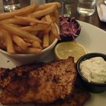 Panko plaice fillets and chips
