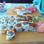 Best spicy Tuna roll anywhere.. Plus more... So yummy