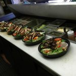 Grilled Chicken Salads and a Steak Tip Salad