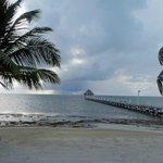 pier extending from beach