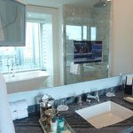 Bathroom with TV inside