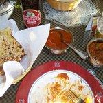 Butter Chciken- Naan and Roagn Lamb- stunning taste