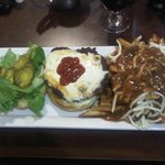 House Burger with side of Poutine