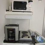 Microwave and coffee maker available