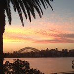 Sunset over the city from cremorne