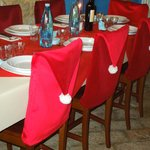 L' arredo natalizio della sala ristorante