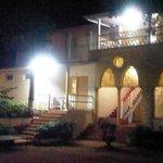 Hotel wing at night