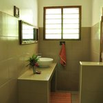 clean and comfortable bathroom with shower