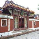 五妃廟正面。ひっそりとした感じであまり観光客は多くない様子。
