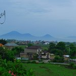 View of Mt Agung from the villa roof top