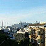Hotel roof top view (open to guests) see GG bridge in background