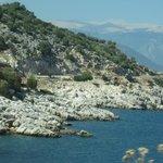 Coastal view nearby Kas