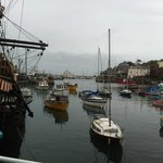 the Golden Hind and Harbour