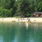 la plage de baignade