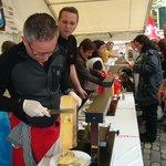 Raclette vendor in Lucerne