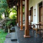 verandah at Alleppey Motty's home stay