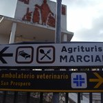 Signs from town to the agriturismo