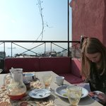 Great view of the Bosphorus during breakfast