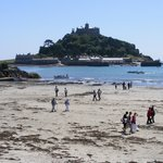 St Michael's Mount from Marazion beach - 4 miles away - a lovely walk along the coast
