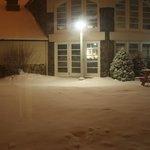 Patio interior nevado