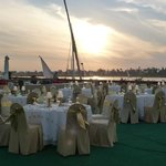 Outside Dining on the bank of the Nile