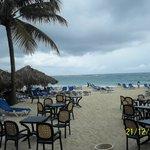 Beach grill view
