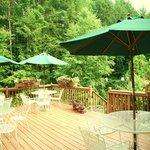 Enjoy breakfast on our deck