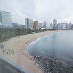 Ocean view room looking out to Haeundae beach