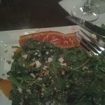 arugula beet salad w salmon..as served.???