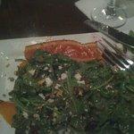 arugula beet salad w salmon..as served.???
