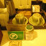 In-room complimentary coffee and tea