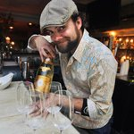 Adam Knight with Louis Roederer 2004 Cristal Champagne