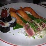 Delightful fresh sushi and sashimi plate