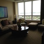 living room with gorgeous view of intracoastal