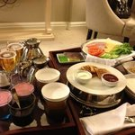 Breakfast specially ordered to honeymoon couple!