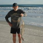 Red Fish caught on the beach