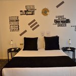 uber cool rock and roll themed bedroom