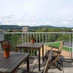 View from the breakfast terrace - Villa Hügel, May 9 2012
