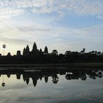 Great reflection of Angkor in the morning.
