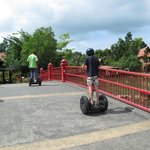 During our island tour organized by Fox Hill: Segway for my son.