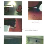Le mobilier sale et dégradé de la chambre supérieur