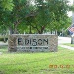 Edison Sign on McGregor Blvd