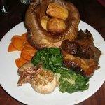 Sunday roast - very generous portion