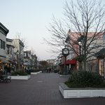 Cape May town center with shops