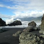 Black Sands Beach, a five-minute walk from the inn